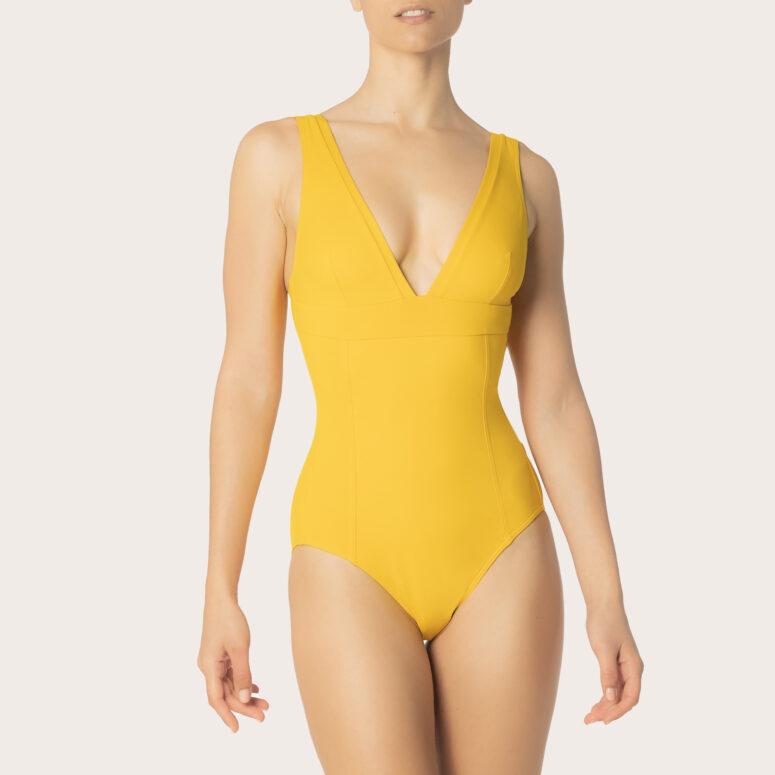 Iodus yellow Essential one piece triangle